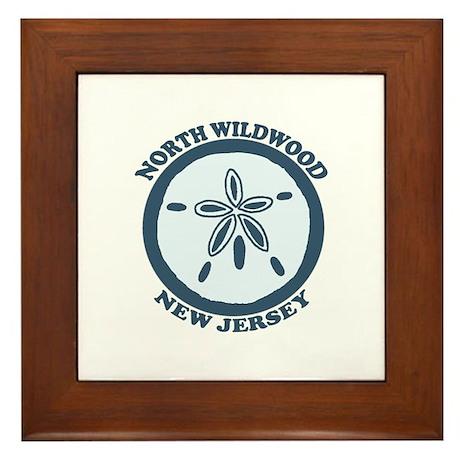Wildwood NJ - Sand Dollar Design Framed Tile