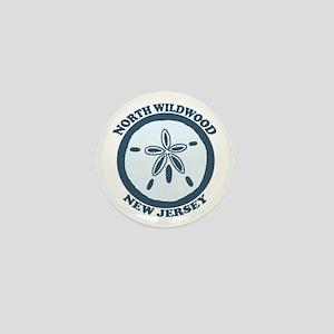 Wildwood NJ - Sand Dollar Design Mini Button