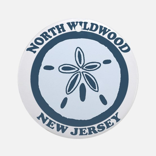 Wildwood NJ - Sand Dollar Design Ornament (Round)