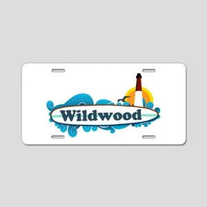 Wildwood NJ - Surf Design Aluminum License Plate