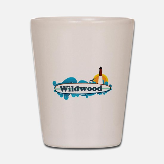 Wildwood NJ - Surf Design Shot Glass