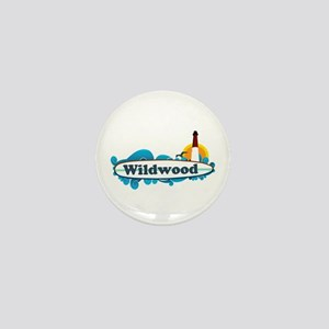 Wildwood NJ - Surf Design Mini Button