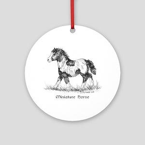 Miniature Horse Foal Ornament (Round)