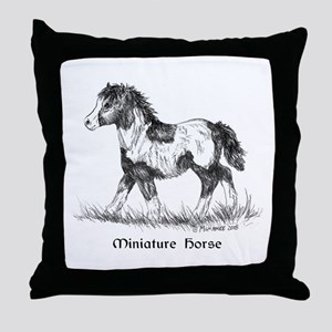 Miniature Horse Foal Throw Pillow