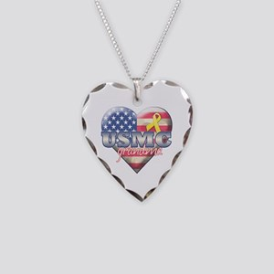 USMC Grandma - Necklace Heart Charm