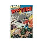 Space Western 41 Rectangle Magnet