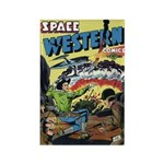 Space Western 42 Rectangle Magnet
