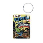 Space Western 42 Aluminum Photo Keychain