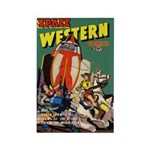 Space Western 40 Rectangle Magnet