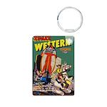 Space Western 40 Aluminum Photo Keychain