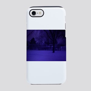 old blue tone snow scene iPhone 7 Tough Case
