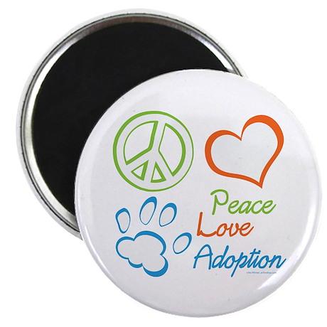 Peace Love Adoption Summer Magnet