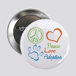 "Peace Love Adoption Summer 2.25"" Button"
