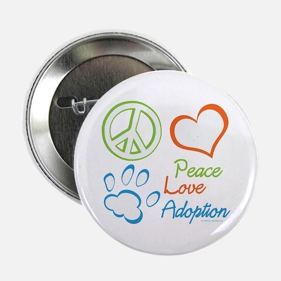 "Peace Love Adoption Summer 2.25"" Button"