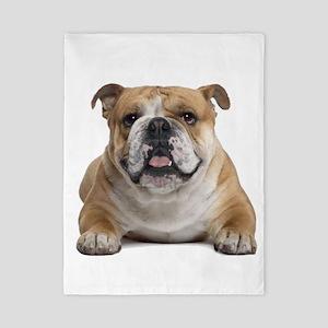 Cute Bulldog Twin Duvet Cover
