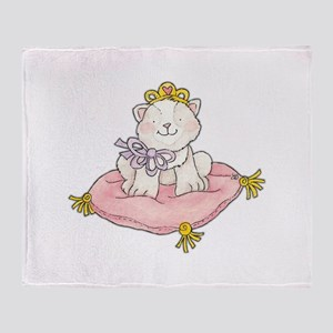 princess kitty Throw Blanket