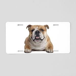 Cute Bulldog Aluminum License Plate