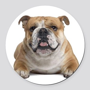 Cute Bulldog Round Car Magnet