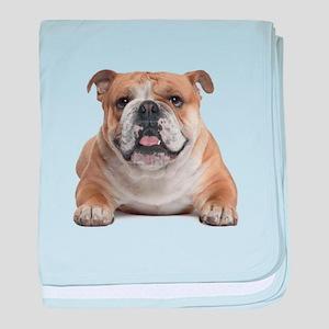 Cute Bulldog baby blanket