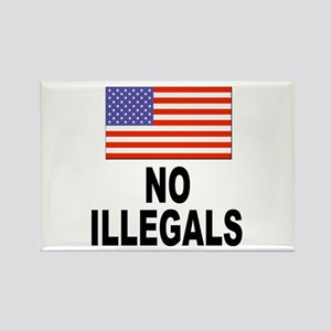 No Illegals Immigration Rectangle Magnet
