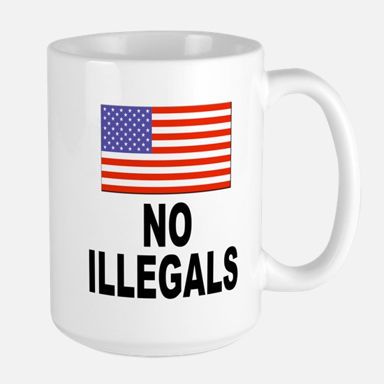 No Illegals Immigration Large Mug