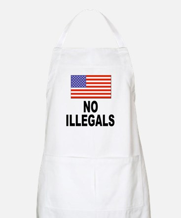 No Illegals Immigration BBQ Apron