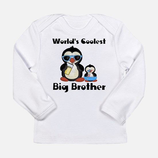 Coolest big brother penguin Long Sleeve Infant T-S
