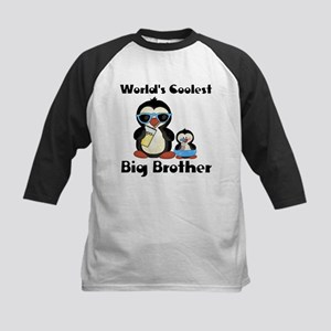 Coolest big brother penguin Kids Baseball Jersey