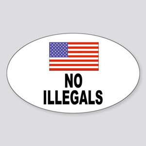 No Illegals Immigration Oval Sticker
