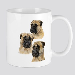 Three Bullmastiff Heads Mug