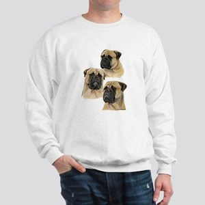 Three Bullmastiff Heads Sweatshirt
