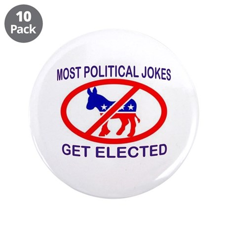 "NOT FUNNY 3.5"" Button (10 pack)"