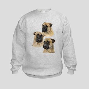 Three Bullmastiff Heads Kids Sweatshirt