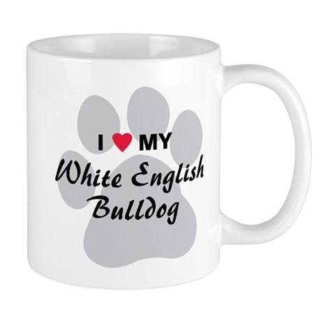 White English Bulldog Mug