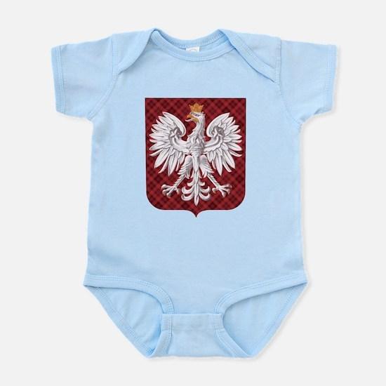 Polish Eagle Plaid Crest Infant Bodysuit