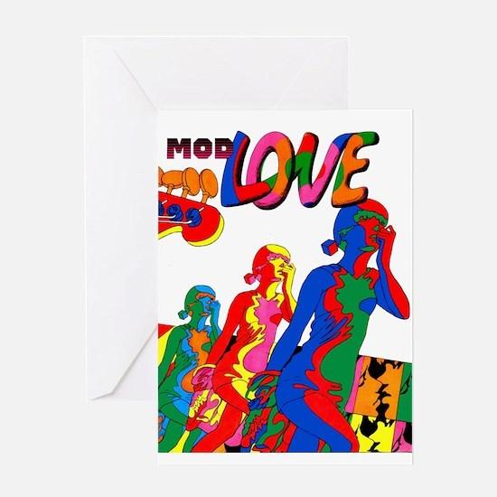 $4.99 Mod Love Comic Greeting Card
