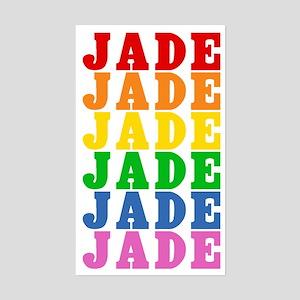 Rainbow Name Sticker (Rectangle)