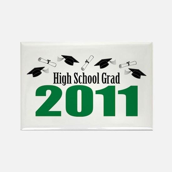 High School Grad 2011 (Green Caps And Diplomas) Re