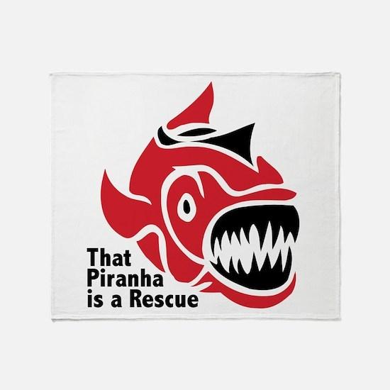 Piranha Rescue Throw Blanket