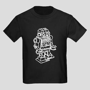 RETRO ROBOT SKETCH Kids Dark T-Shirt