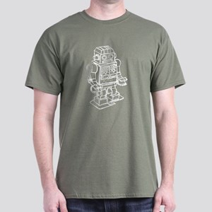RETRO ROBOT SKETCH Dark T-Shirt