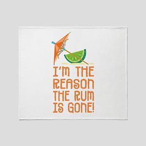 Rum Gone - Throw Blanket