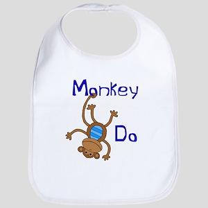 MonkeyDOblue Baby Bib