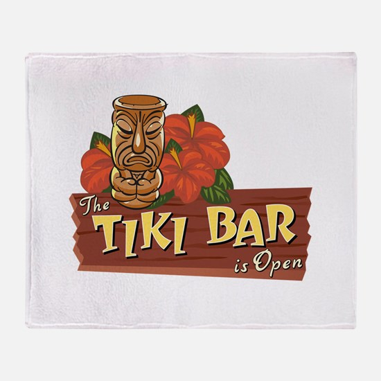 Tiki Bar is Open II - Throw Blanket