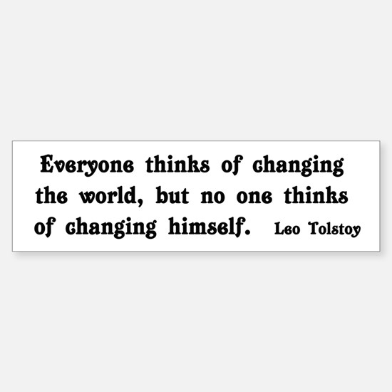 Change The World Sticker (Bumper)