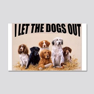 HUNTING DOGS Wall Decal