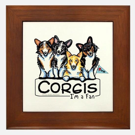 Corgi Fan Framed Tile