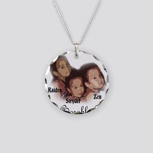 ZRS Adorable Trio Necklace Circle Charm