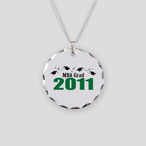 MBA Grad 2011 (Green Caps And Diplomas) Necklace C