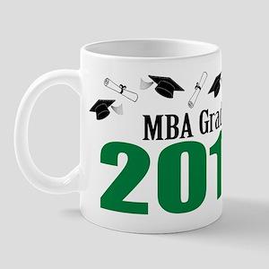 MBA Grad 2011 (Green Caps And Diplomas) Mug